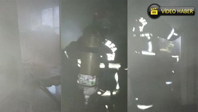 İpekyol Mahallesi'nde apartmanda yangın çıktı
