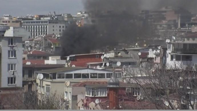 İstanbul Emniyet Müdürlüğü deposunda yangın