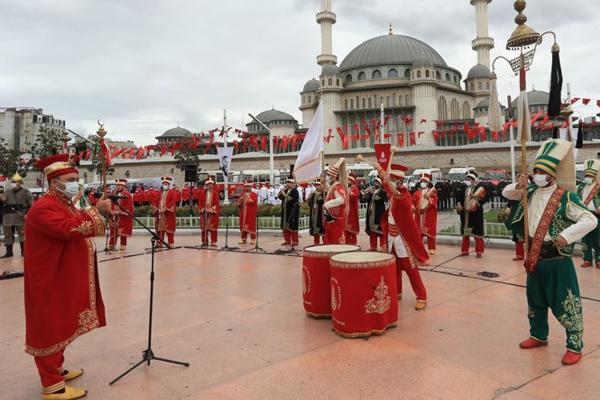 İstanbul'un kurtuluşu Taksim'de kutlandı