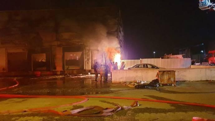 İzmir'de bir ekmek fabrikasında yangın