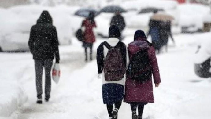 Kar nedeniyle 7 ilde eğitime ara verildi