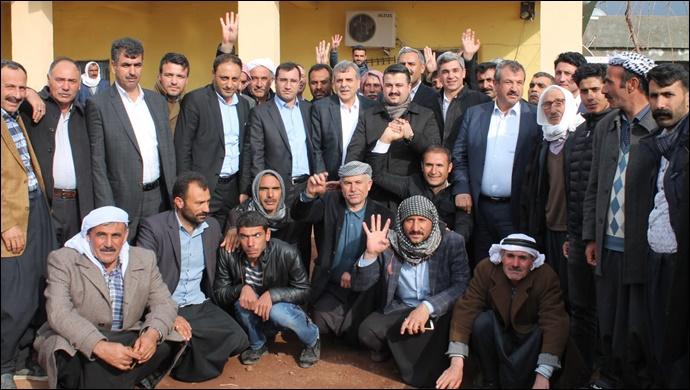 Karacadağ'da Ak Parti'ye Destek Mitingi Düzenlendi