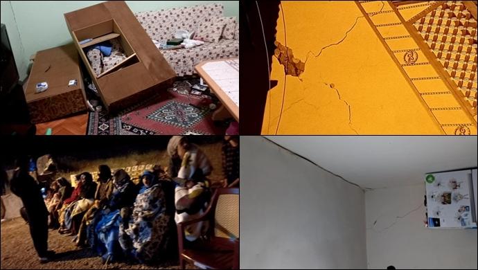 Karakoçan köylerindeki evler depremde hasar gördü