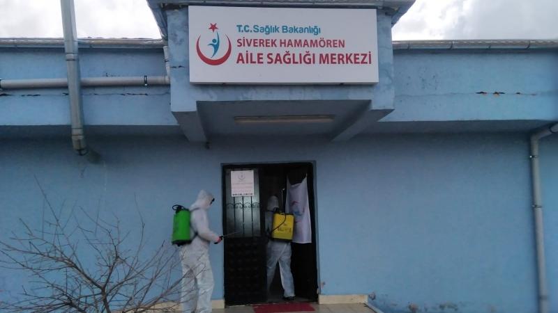 Kırsal ASM'ler dezenfekte edildi