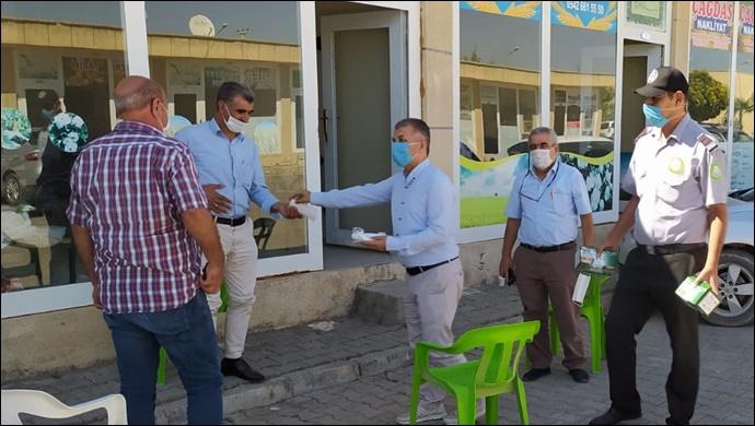 Kızıltepe Hububat Ticaret Merkezi esnafları koronaya karşı tedbirleri sıkı tutuyor