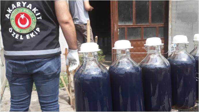 Konya'da 31 bin litre kaçak akaryakıt ele geçirildi