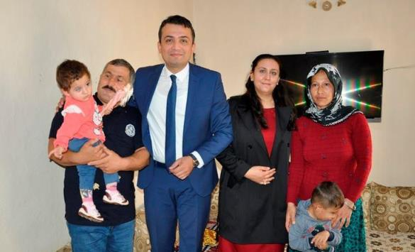 Küçük Büşra'ya Ceylanpınar Kaymakamı Keklik Sahip Çıktı