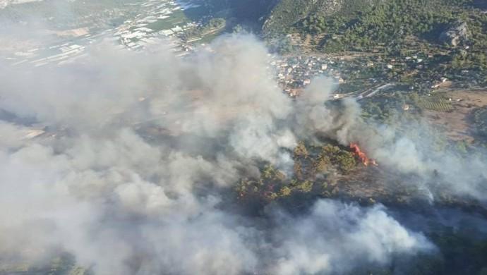 Kumluca'da 60 hektarlık alan kül oldu