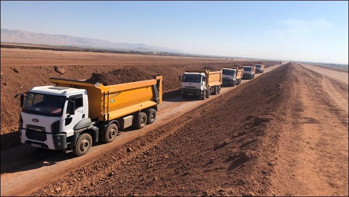 Mardin Ana kanal ve cazibe sulama inşaatı hızla devam ediyor