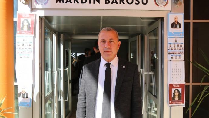 Mardin Barosu Başkanı İsmail Elik yeniden seçildi