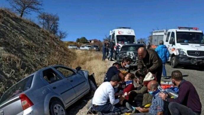 Mazgirt'te trafik kazası