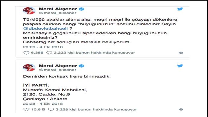 Meral Akşener, Devlet Bahçeli'nin tehditlerine meydan okudu: Megri megri ile gözyaşı dökenlere...