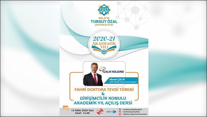 """MTÜ'den Akademik Açılış Yılı ve İşadamı Çalık'a """"Fahri Doktora"""" Unvanı"""