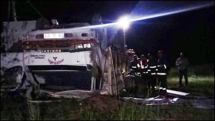 Mültecileri taşıyan kamyon devrildi: 5 ölü, 39 yaralı