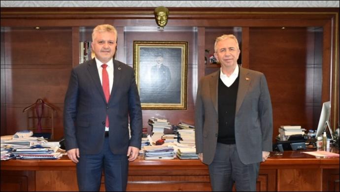 Murat Gerenli'den Mansur Yavaş'a ziyaret
