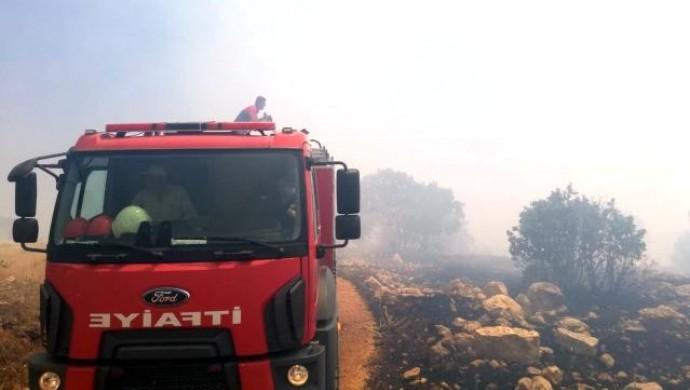 Ömerli kırsalında yangın