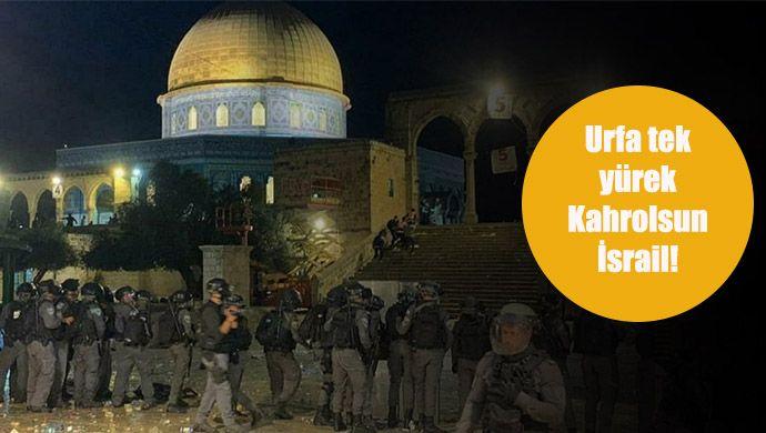 Saldırı kınandı: Urfa'da İsrail'e tepkiler sürüyor