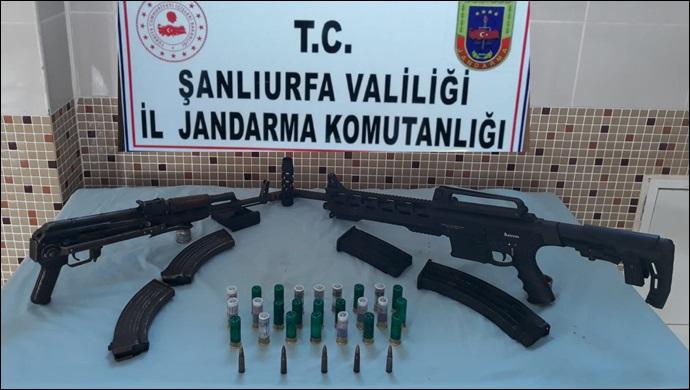 Şanlıurfa jandarması silah kaçakçılarına geçit vermiyor!