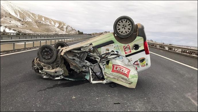 Şanlıurfa Otobanında kaza! (Video-Foto)