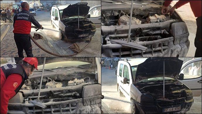 Şanlıurfa'da otomobil alev alev yandı !