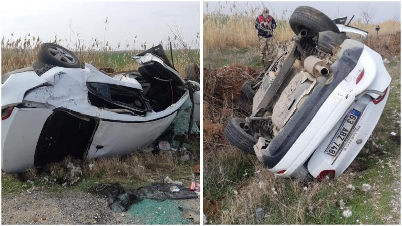Şanlıurfa'da Otomobil devrildi: 1 ölü, 1 Ağır yaralı