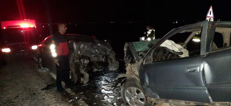 Şanlıurfa'da otomobiller çarpıştı: 1 ölü, 2 yaralı