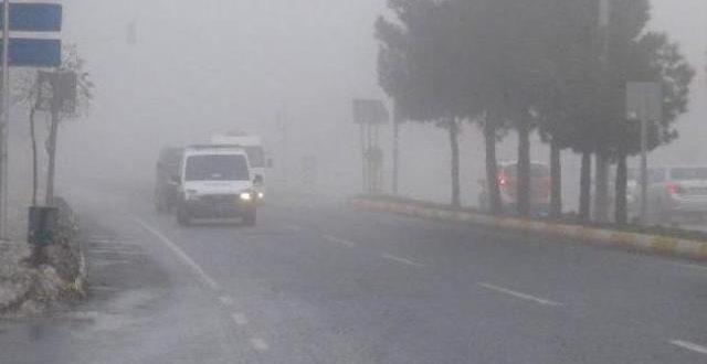 Şanlıurfa'da sis ve yağmur Etkili oldu