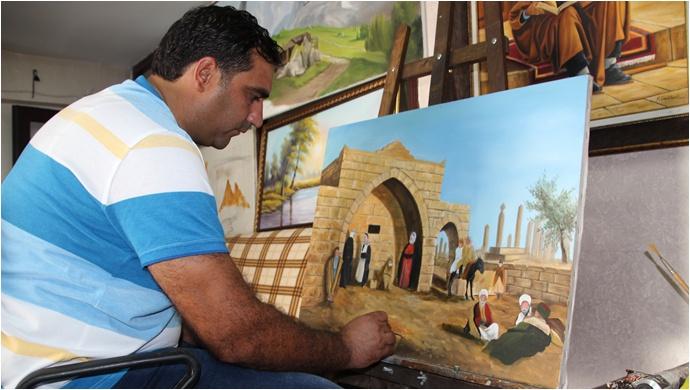 Şanlıurfa'da tuz satan ressam