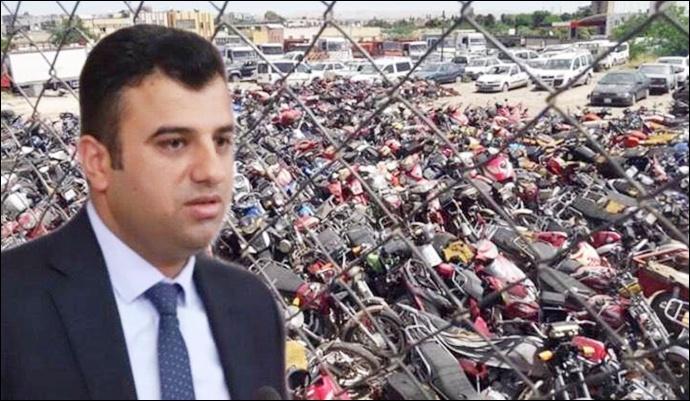 Şanlıurfa'da Yediemin Otoparkındaki Araçlar Meclise Taşındı