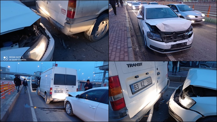 Şanlıurfa'da Zincirleme kaza