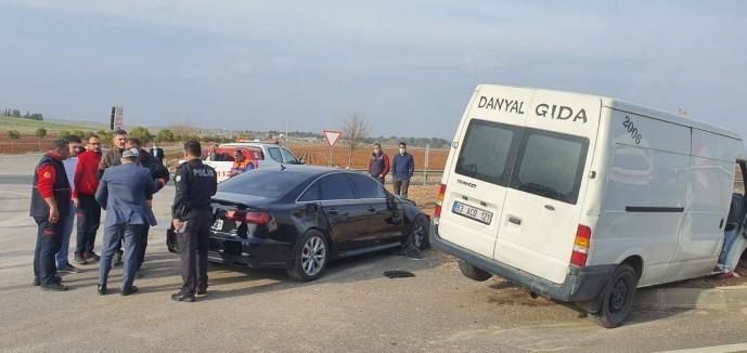 Şanlıurfa'ya gelen İyi Parti konvoyu kaza yaptı