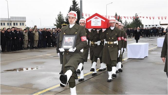 Şehit Binbaşı ve Teğmen Memleketine Uğurlandı