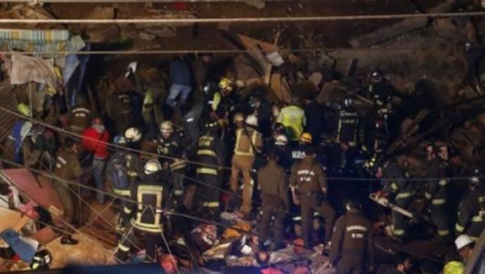 Şili'de bina çöktü
