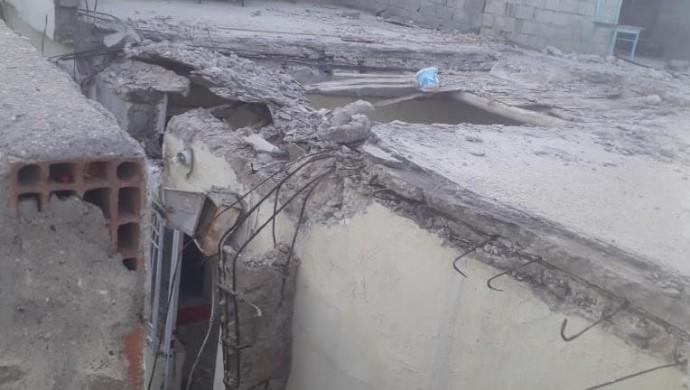 Silopi'de ev çöktü: 2 çocuk yaralı