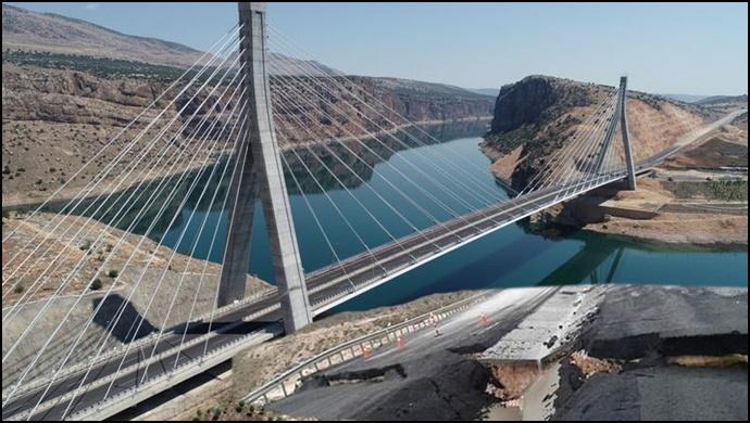 Siverek'in incisi Nissibi Köprüsü çöktü