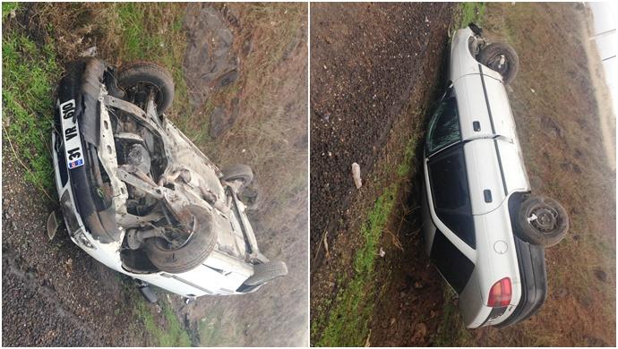 Siverek'te Otomobil Takla Attı Yaralılar Var