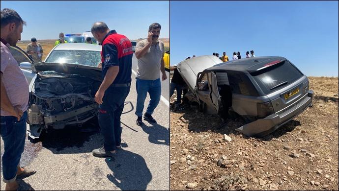SON DAKİKA...Suruç'ta iki araç çarpıştı: Araçlardan biri şarampole uçtu