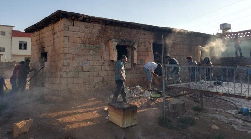 Suriyeli ailenin imdadına mahalle sakinleri yetişti