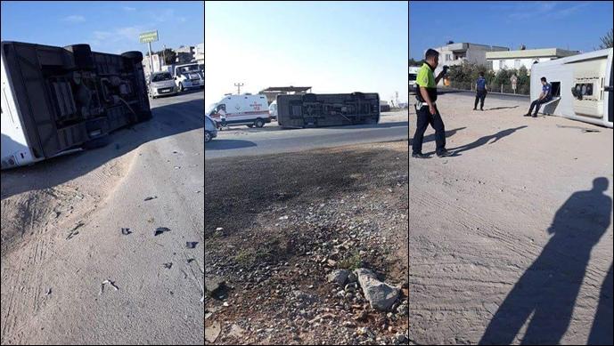 Suruç'ta Polis Midibüsü Devrildi: 10 Yaralı