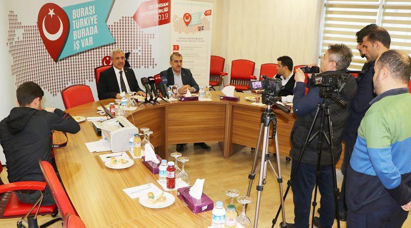 Şutso'da İstihdam Seferberliği Konulu Basın Toplantısı Düzenlendi