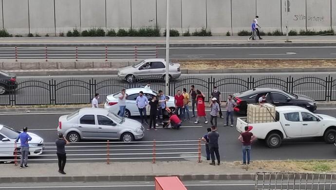 Trafik kazasında faciaya ramak kaldı
