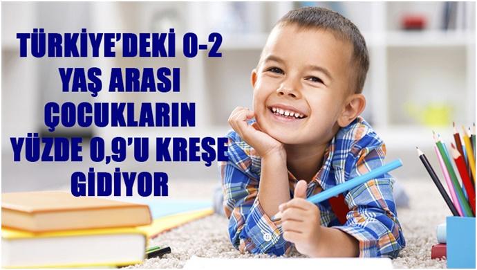 Türkiye'deki 0-2 Yaş Arası Çocukların Yüzde 0,9'u Kreşe Gidiyor