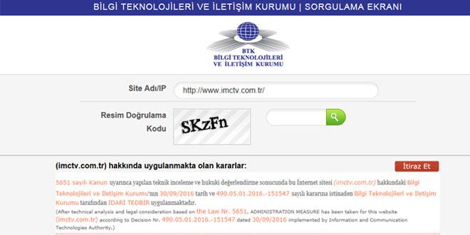 İMC TV'nin internet sitesi erişime engellendi