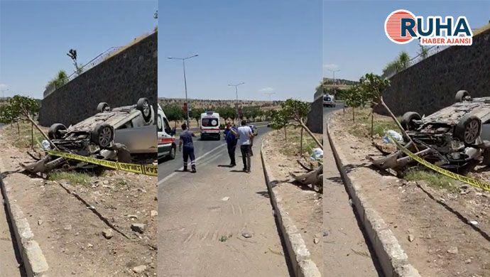 Urfa'da araç kontrolden çıkınca takla attı: 2 kişi yaralandı