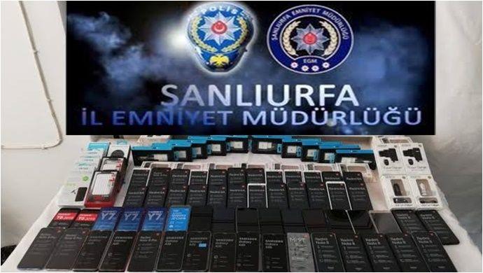 Urfa'da Kaçak Cep Telefonu Operasyonu..
