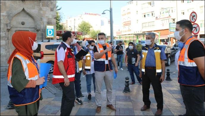 Urfa'da korona denetimleri devam ediyor