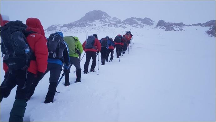 Urfalı Dağcılar Berit Dağına Tırmandı –(Fotoğraflı)
