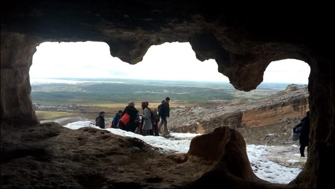 Urfalı Dağcılar Silvan Hasuni Mağara Şehrinde Yürüdüler-(Fotolu)