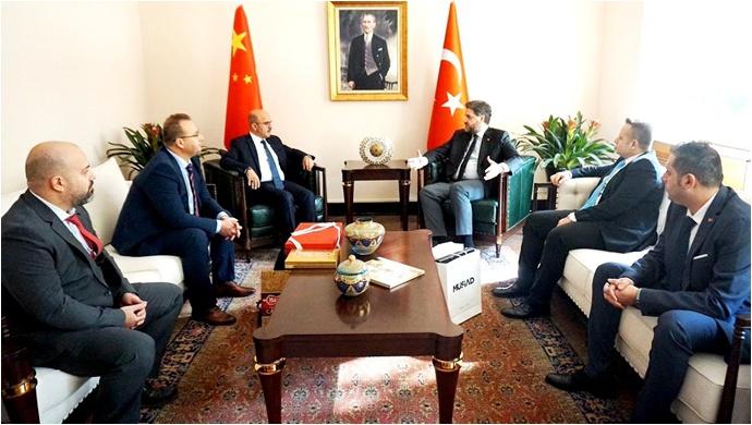 Uyar'dan Pekin Büyükelçimiz Önen'e ziyaret