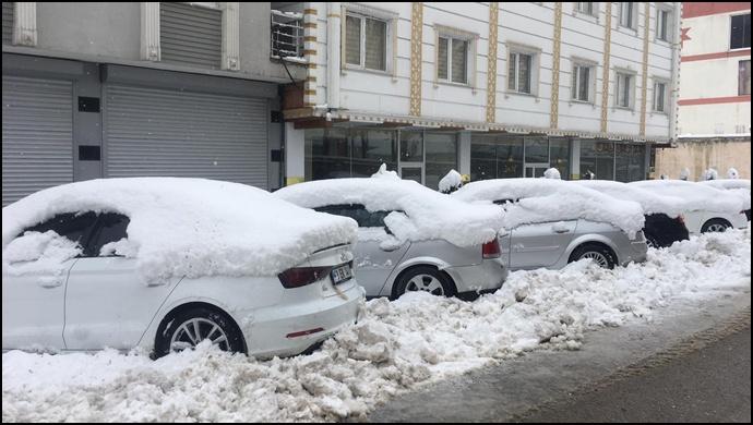 Van -Başkale'de Nisan karı